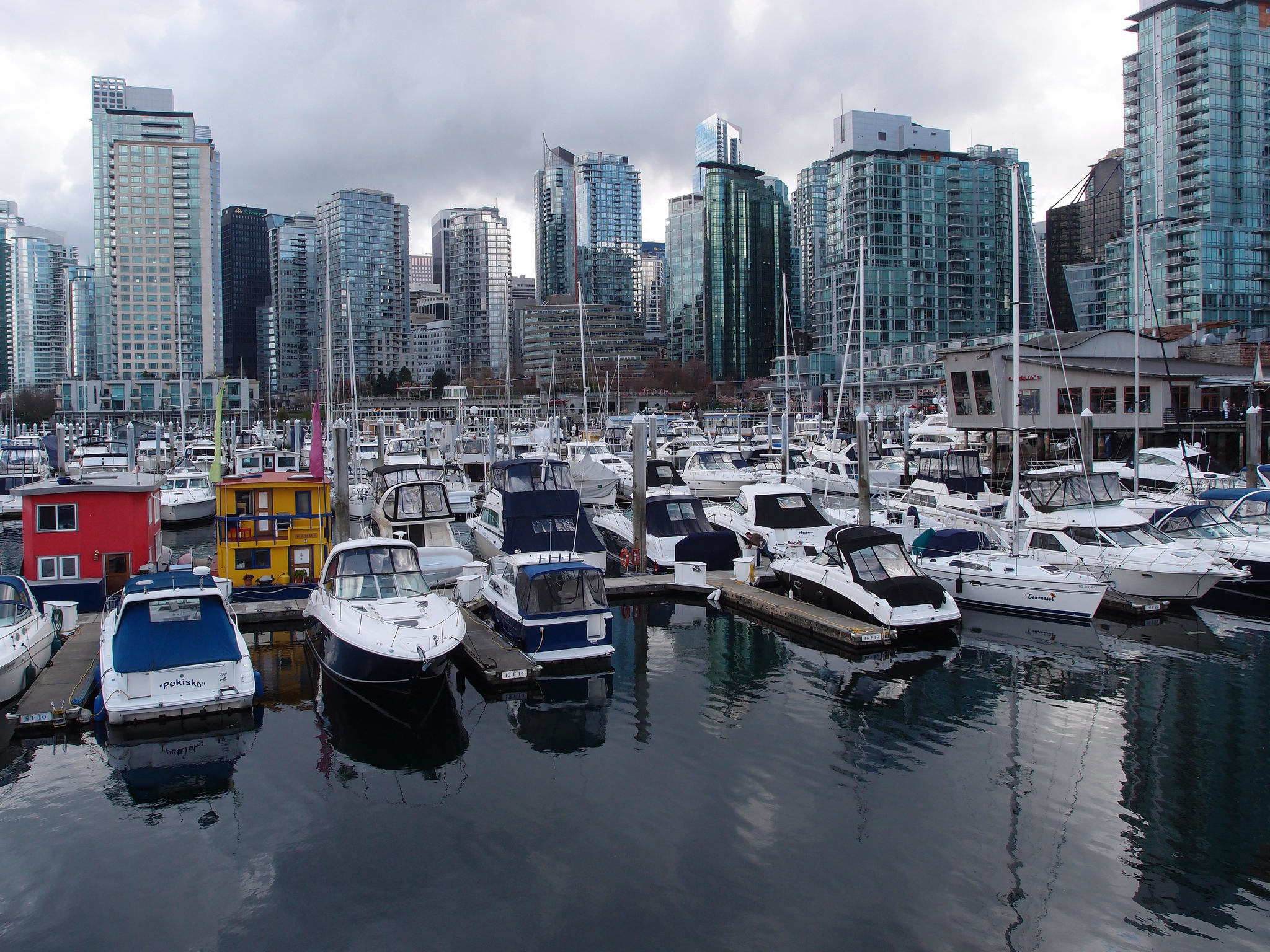 Coal Harbour Marina in Vancouver, BC